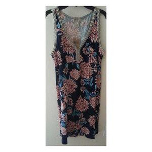 Lucky Brand Dresses - LUCKY BRAND Floral Sleeveless Boho Dress